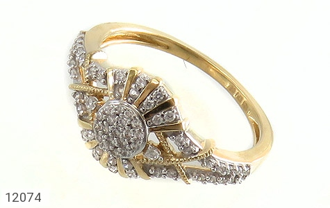 انگشتر نقره طرح دلبر جواهرنشان زنانه - عکس 1