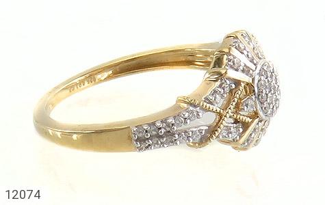 انگشتر نقره طرح دلبر جواهرنشان زنانه - عکس 3