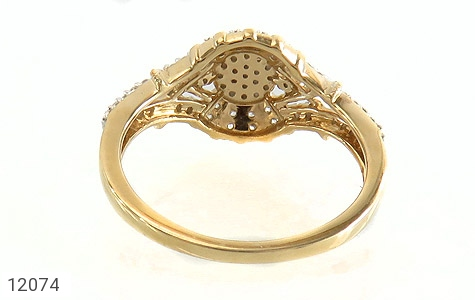 انگشتر نقره طرح دلبر جواهرنشان زنانه - تصویر 4