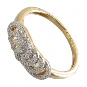 انگشتر نقره رینگی جواهرنشان زنانه