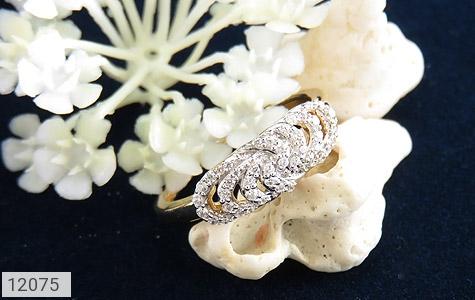 انگشتر نقره رینگی جواهرنشان زنانه - عکس 5