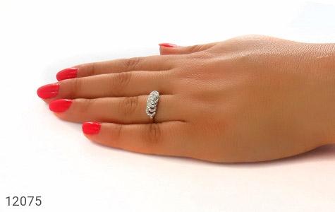 انگشتر نقره رینگی جواهرنشان زنانه - عکس 7