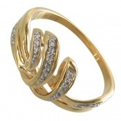 انگشتر نقره جواهرنشان طرح تاج زنانه