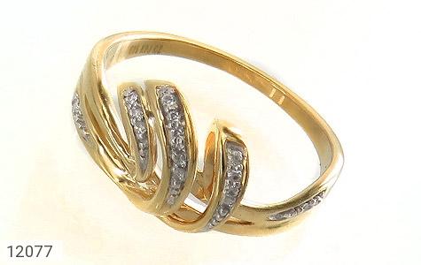 انگشتر نقره جواهرنشان طرح تاج زنانه - عکس 1