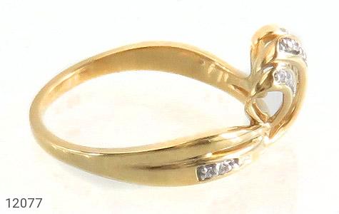 انگشتر نقره جواهرنشان طرح تاج زنانه - عکس 3