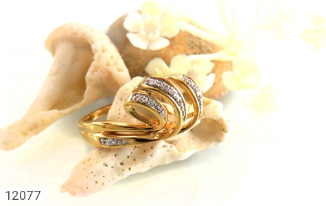 انگشتر نقره جواهرنشان طرح تاج زنانه - عکس 5