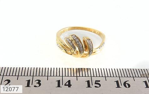 انگشتر نقره جواهرنشان طرح تاج زنانه - تصویر 6