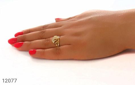 انگشتر نقره جواهرنشان طرح تاج زنانه - عکس 7