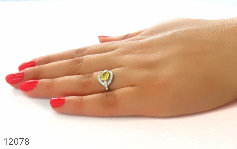 انگشتر یاقوت زرد افریقایی صفوی زنانه - عکس 7