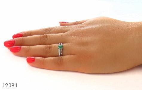 انگشتر زمرد زامبیا طرح یگانه زنانه - عکس 7