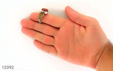 انگشتر عقیق رکاب دست ساز - تصویر 8