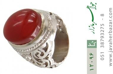 انگشتر عقیق یمن رکاب دست ساز - کد 12096