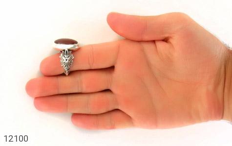 انگشتر عقیق یمن رکاب دست ساز - عکس 9