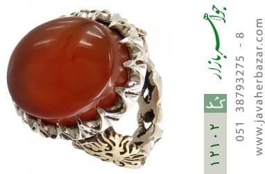 انگشتر عقیق یمن رکاب دست ساز - کد 12102