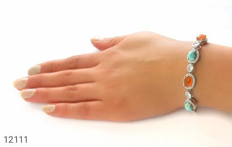 دستبند عقیق و فیروزه نیشابوری - عکس 5