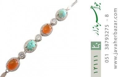 دستبند عقیق و فیروزه نیشابوری - کد 12111