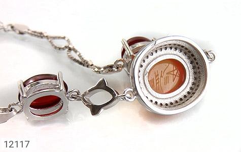 دستبند عقیق یمن حکاکی شرف الشمس - عکس 3