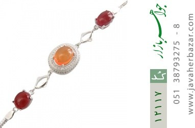 دستبند عقیق یمن حکاکی شرف الشمس - کد 12117