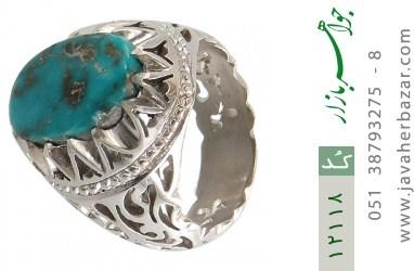 انگشتر فیروزه نیشابوری رکاب دست ساز - کد 12118