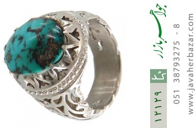 انگشتر فیروزه نیشابوری رکاب دست ساز - کد 12129