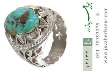 انگشتر فیروزه نیشابوری رکاب دست ساز - کد 12132