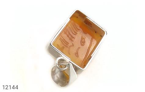 مدال عقیق حکاکی شرف الشمس یا امام رضا (ع) فریم دست ساز - عکس 3