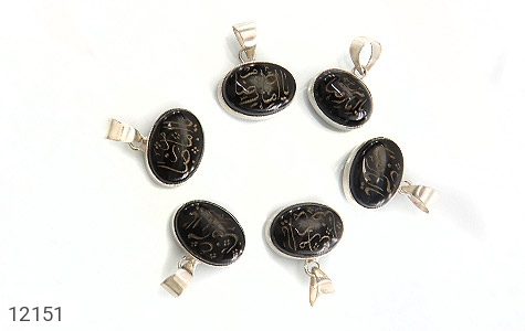 مدال عقیق حکاکی یا امام رضا (ع) فریم دست ساز - تصویر 2