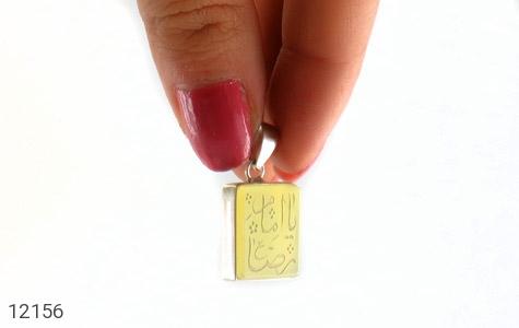 مدال عقیق حکاکی یا امام رضا فریم دست ساز - عکس 5
