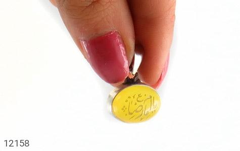 مدال عقیق حکاکی یا امام رضا (ع) فریم دست ساز - عکس 5