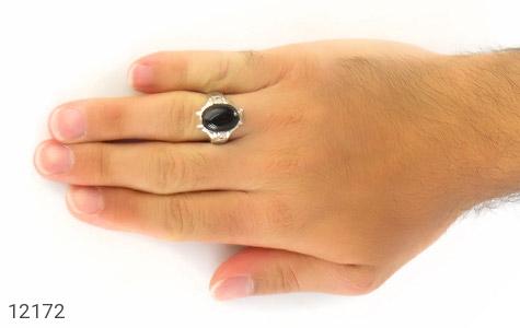 انگشتر یاقوت و عقیق رکاب دست ساز - عکس 7