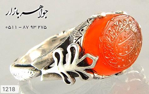 انگشتر عقیق لوکس حکاکی و من یتق الله - تصویر 2