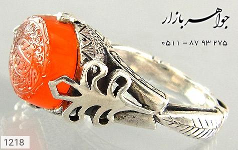 انگشتر عقیق لوکس حکاکی و من یتق الله - تصویر 4