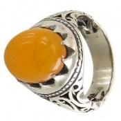 انگشتر عقیق زرد شرف الشمس رکاب شـبکه مردانه