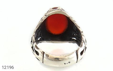 انگشتر عقیق قرمز رکاب شبکه و جذاب مردانه - تصویر 4