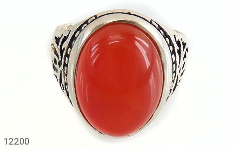 انگشتر عقیق قرمز درشت طرح پاشا مردانه - تصویر 2