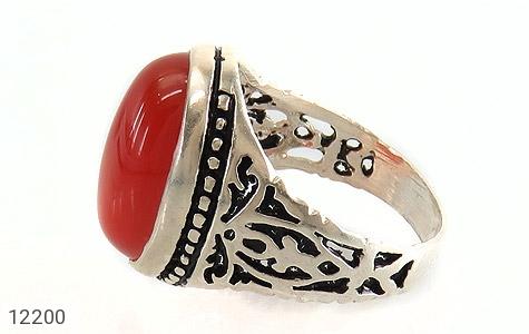 انگشتر عقیق قرمز درشت طرح پاشا مردانه - تصویر 4