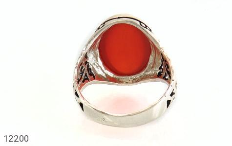 انگشتر عقیق قرمز درشت طرح پاشا مردانه - عکس 5