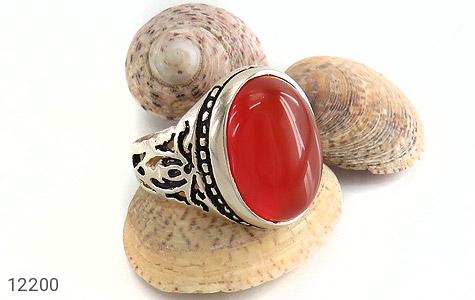انگشتر عقیق قرمز درشت طرح پاشا مردانه - تصویر 6