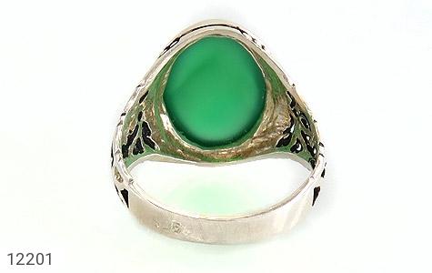 انگشتر عقیق سبز درشت طرح پاشا مردانه - عکس 5