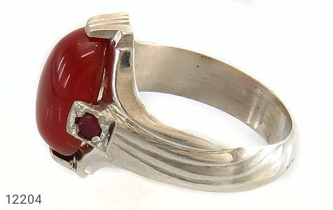 انگشتر یاقوت و عقیق رکاب دست ساز - عکس 3