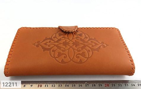 کیف چرم طبیعی طرح دار دکمه ای زنانه - تصویر 10