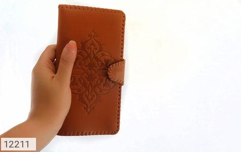 کیف چرم طبیعی طرح دار دکمه ای زنانه - عکس 11