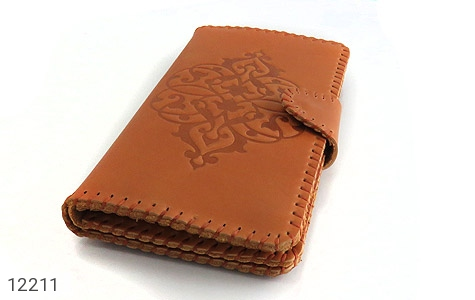 کیف چرم طبیعی طرح دار دکمه ای زنانه - عکس 3