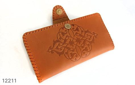 کیف چرم طرح دار دکمه ای زنانه - عکس 5