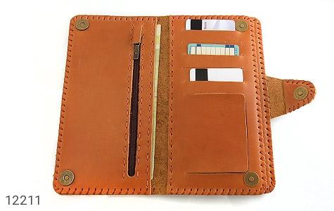 کیف چرم طبیعی طرح دار دکمه ای زنانه - تصویر 6