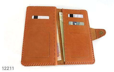 کیف چرم طبیعی طرح دار دکمه ای زنانه - عکس 7