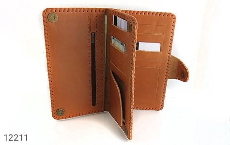 کیف چرم طبیعی طرح دار دکمه ای زنانه - تصویر 8