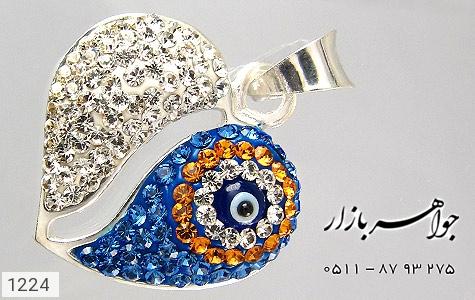 مدال نقره چشم زخم درشت - عکس 1