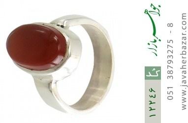 انگشتر عقیق یمن رکاب دست ساز - کد 12246