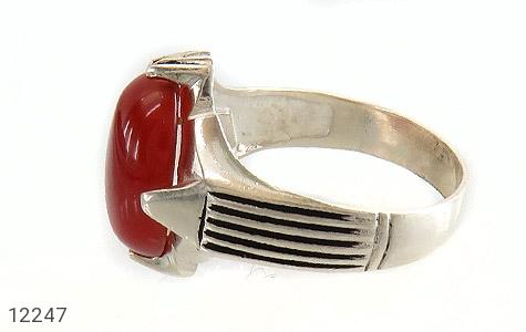 انگشتر عقیق قرمز درشت چهارچنگ مردانه - تصویر 4